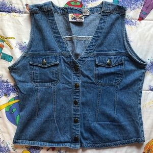 Vintage 1990s Light Wash Denim Vest